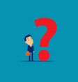 businessman with question mark concept business vector image
