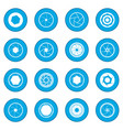 camera shutter icon blue vector image vector image