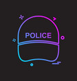 cap hat law officer police icon design vector image