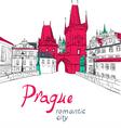 Charles Bridge in Prague vector image vector image
