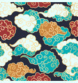 chinese clouds smoke seamless pattern vector image vector image