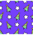 Christmas tree and stars vector image vector image