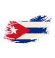 cuban flag grunge brush background vector image vector image