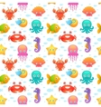 Cute sea animals seamless pattern vector image vector image