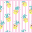 cute seamless print with pineapples vector image vector image