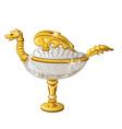 eastern souvenir in form a golden oil lamp vector image vector image