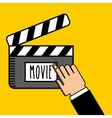 entertaining movie vector image