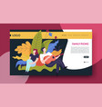 family picnic online web page template man and vector image vector image