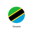 flag of tanzania in the form of a circle and vector image vector image