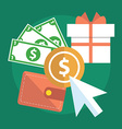 Flat design modern concept of pay per click vector image vector image