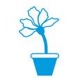 flower in vase vector image vector image