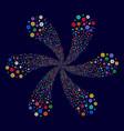 flower twirl stream vector image vector image