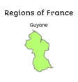 France administrative map of French Guiana vector image vector image