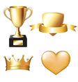 Gold Trophy Set vector image vector image
