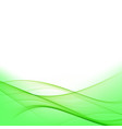 green smooth twist light lines background vector image vector image