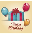 happy birthday gift isolated icon design vector image