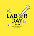 happy labor day message wrench design vector image vector image