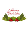 happy merry christmas design vector image