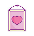 happy valentines day hanging frame heart love vector image vector image
