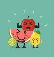 healthy food emoji characters vector image vector image
