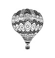 hot air balloon in zentangle style coloring page vector image