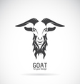 image a goat head design vector image vector image