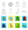 isolated object of man and clothing sign vector image vector image