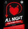 live rock music poster vector image