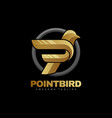 logo point bird gradient colorful style vector image