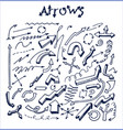 lot pretty arrows sketches vector image