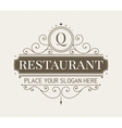 Luxury vignette and monogram template vector image vector image