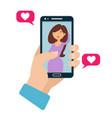 online dating flat concept vector image
