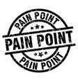 pain point round grunge black stamp vector image vector image