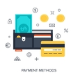 Payment Methods vector image vector image