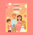 pregnant woman in happy loving family vector image