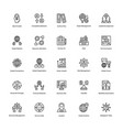 project management line icons set 22 vector image vector image