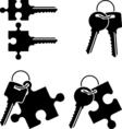 puzzle keys vector image vector image