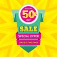 Sale banner design discount 50 vector image