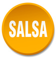 salsa orange round flat isolated push button vector image vector image