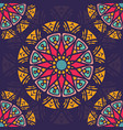seamless pattern background with boho style vector image vector image