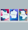 set brochure template abstract fluid gradient vector image vector image