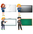 set of people present vector image vector image