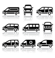 Set of transport icons - van vector | Price: 1 Credit (USD $1)