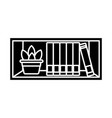 shelf with books vector image vector image