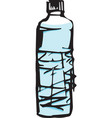 sketch of a bottle of water vector image