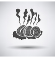 Smoking cutlets vector image