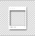 social network photo frame vector image vector image