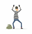 thief surrendering - cartoon people characters vector image
