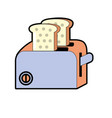 toaster technology kitchen utensil object vector image