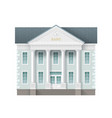 traditional bank building vector image vector image